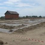 Озерная 6А Готовим основание для заливки бетонной подготовки.