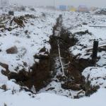 Последний участок траншеи для подключения газопровода ГРПШ второй и последующих очередей