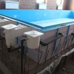Бассейн готов к бетонированию.