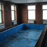Начата отделка бассейновой комнаты