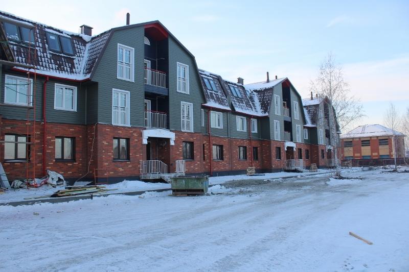 Многоквартирный дом по адресу: Вадима Туманова, 1а. Вид на дворовой фасад.