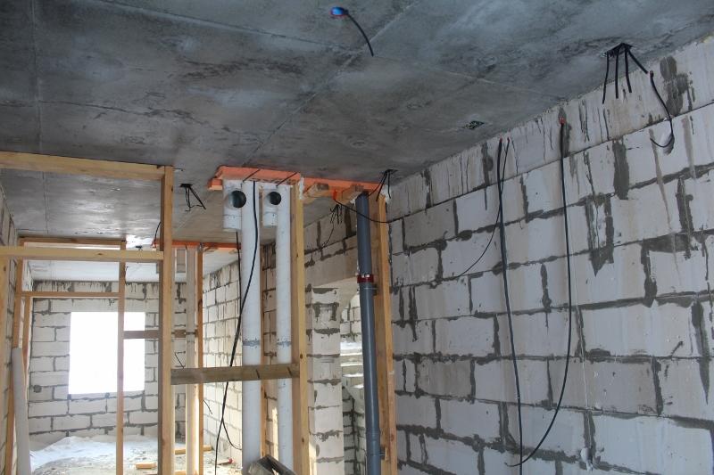 квартал Согласия, 1. Идет монтаж всех внутренних инженерных систем (вентиляция, канализация, электрика и т.д.)