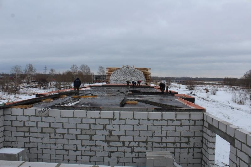 квартал Согласия, 2. Ведутся работы по армированию перекрытия второго этажа.