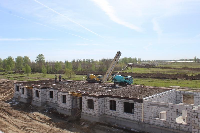 квартал Согласия, 3. А вот и бетон на монолитное перекрытие.